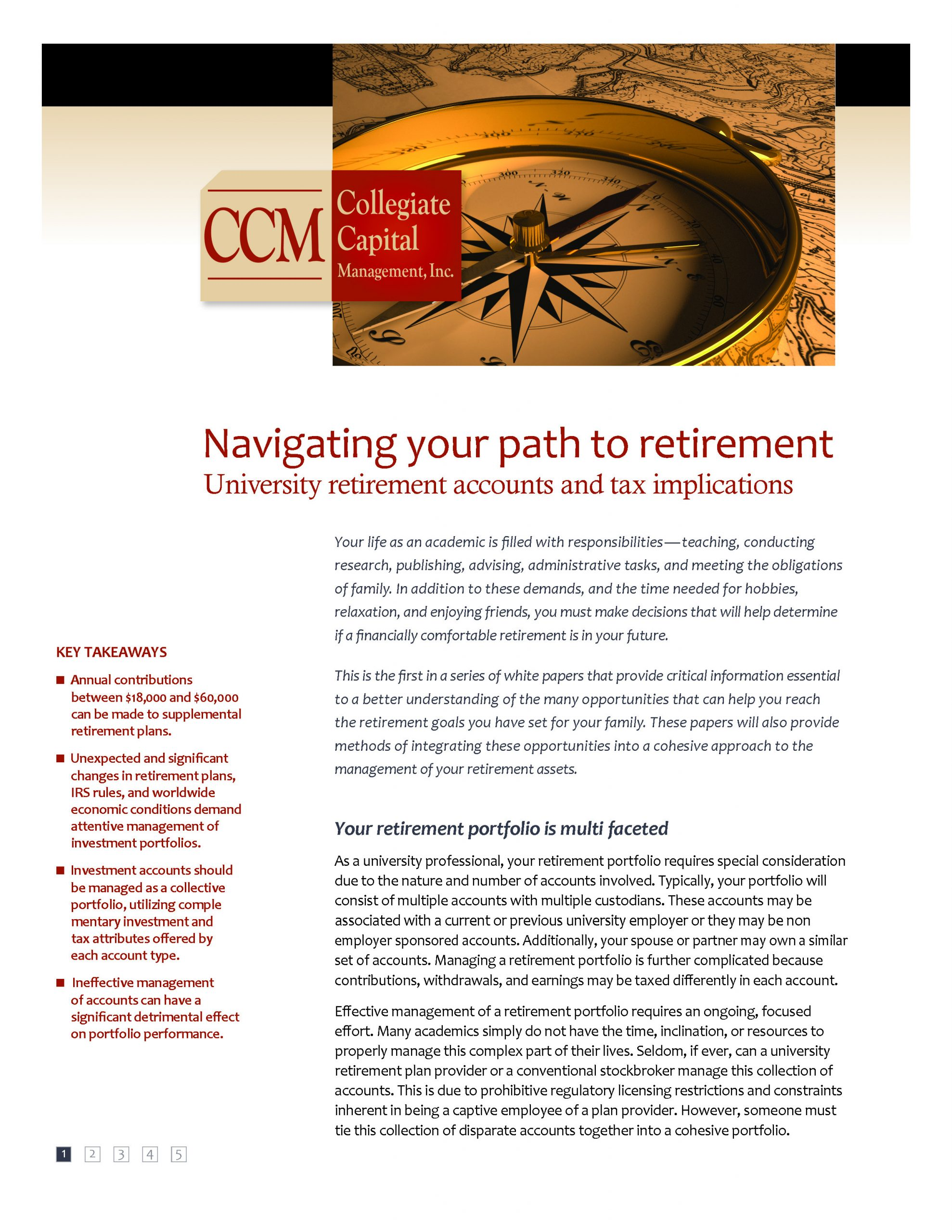 White Paper: Navigating your path to retirement- University retirement accounts and tax implications